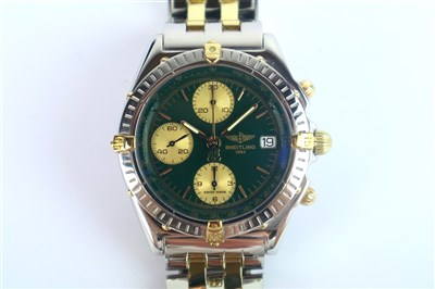 Lot 207-A Gentleman's Breitling Chronomat Steel and Yellow Gold Wristwatch