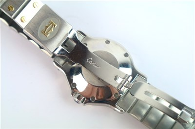 Lot 223 - A Unisex Cartier Automatic Santos Octo Wristwatch