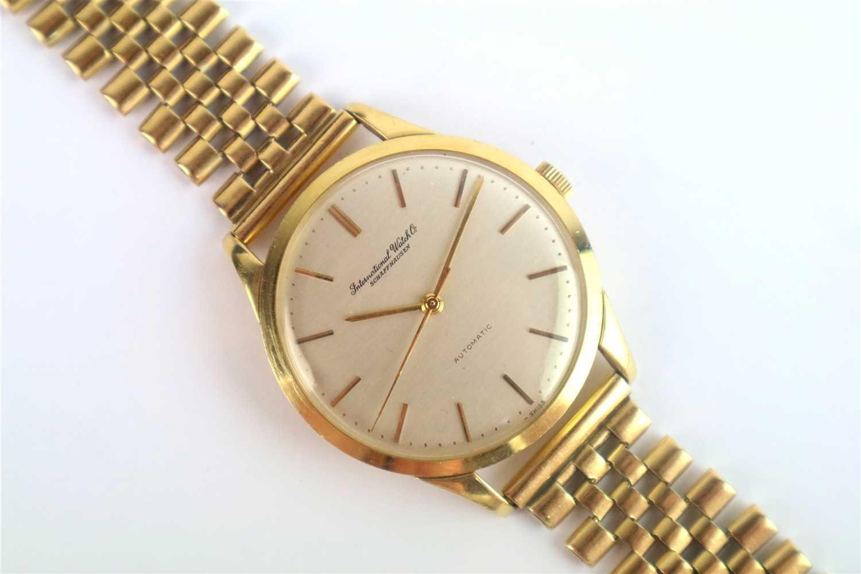 Lot 358-A Gentleman's 18ct gold IWC Schaffhausen Wristwatch
