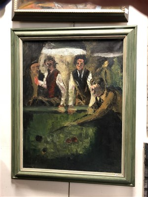 Lot 19-Edward Morgan (B.1933), a collection of oils depicting a range of compositions
