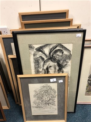 Lot 28-Edward Morgan (B.1933), a collection of three drawings of views of Gornal, Dudley