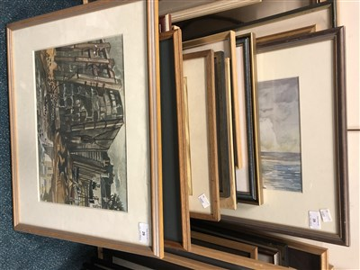 Lot 29-Edward Morgan (B.1933), harbour scene
