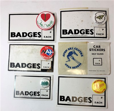 Lot 34-Edward Morgan (B.1933), a collection of design work and badges
