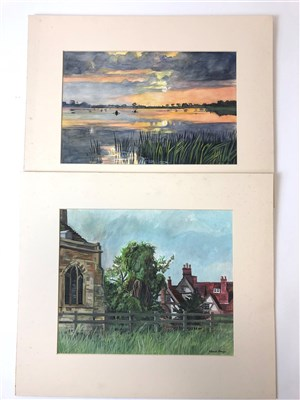 Lot 36-Edward Morgan (B.1933), quantity of unframed works