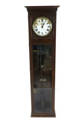 Lot 713-An oak cased Magenta electronic 'clocking-in' clock