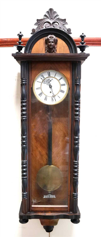 Lot 719-An Edwardian Vienna regulator wall clock