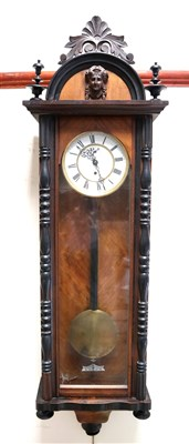 Lot 719-An Edwardian Vienna regulator wall clock