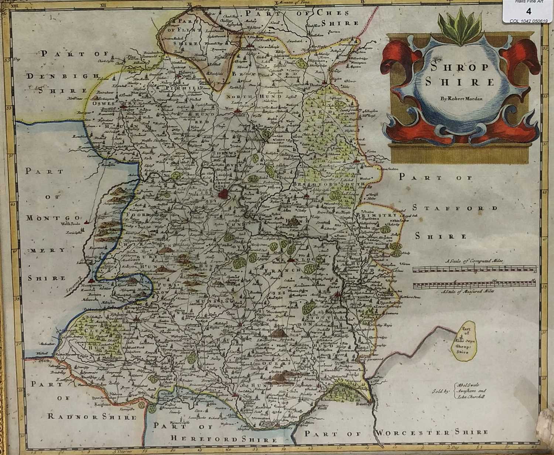 Lot 4-Robert Morden, map of Shropshire