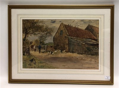 Lot 6-James William Booth, farmer with his cattle