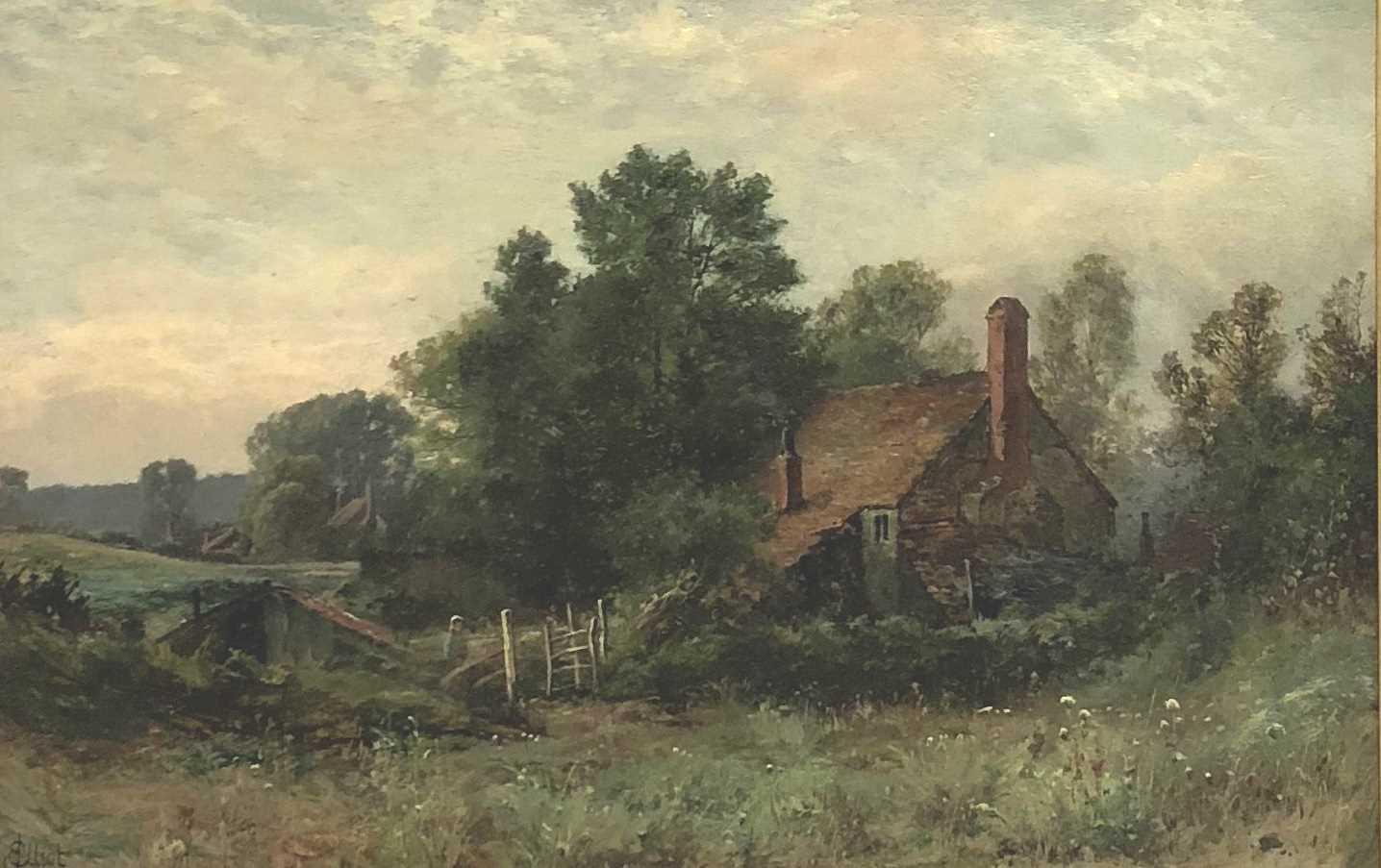 Lot 9-J. Elliot, cottage in a woodland