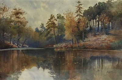 Lot 38-Alice Fowler, woodland lake