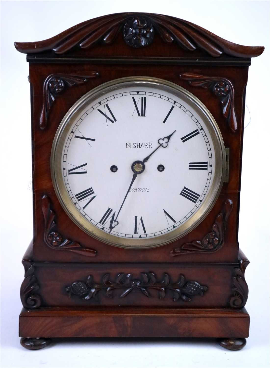 Lot 718-A 19th century double fusee bracket clock