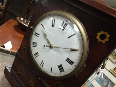 Lot 724-A Regency mahogany mantle clock