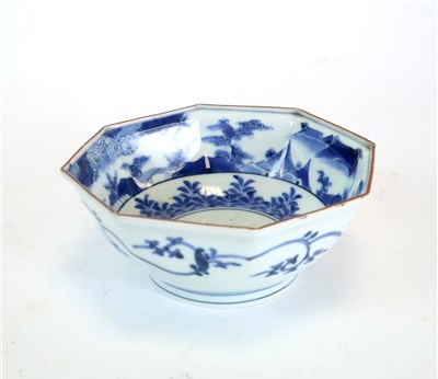 Lot 170-Two 19th century Japanese blue and white bowls