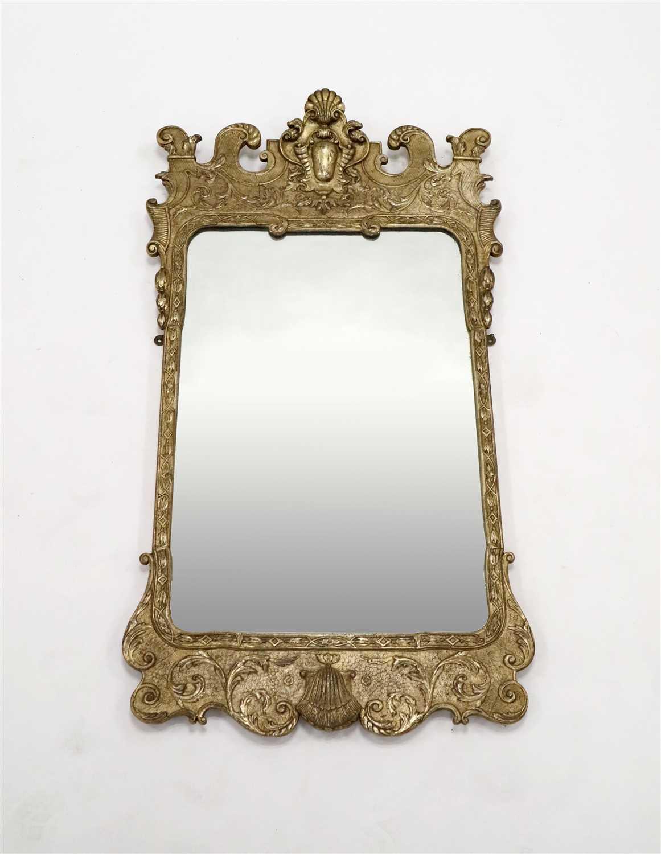 Lot 225-A George II design gilt framed pier glass / wall mirror