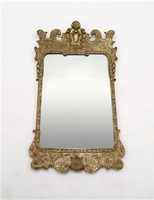 Lot 225-A George II design gilt framed pier glass / wall mirror