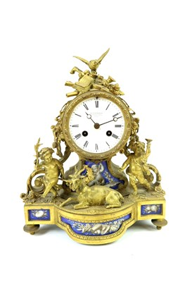 Lot 707-A 19th century mantle clock by Klaftenberger