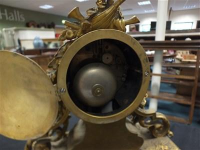 Lot 707-A 19th century mantle clock by Klaftenberger