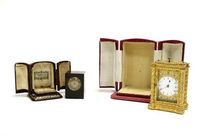 Lot 697-A 19th century French carriage clock by Bourdin of Paris