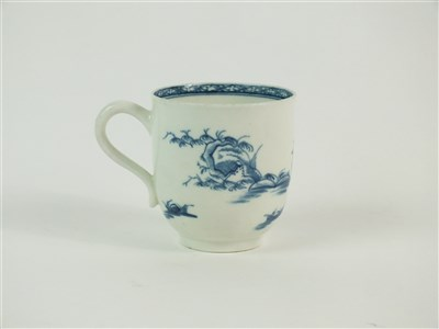 Lot 38-A rare Worcester porcelain blue and white chocolate cup