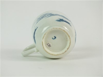 Lot 38 - A rare Worcester porcelain blue and white chocolate cup