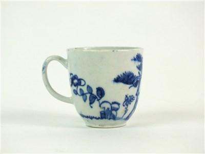 Lot 40 - A Bow porcelain blue and white coffee cup