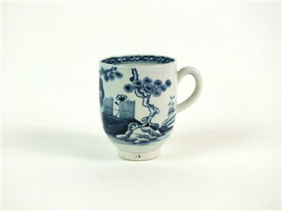 Lot 44 - A John Pennington, Liverpool porcelain coffee cup