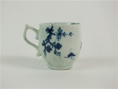 Lot 45 - A Worcester Prunus Root coffee cup and saucer