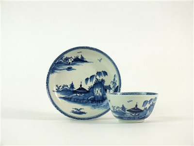 Lot 48 - A Vauxhall tea bowl and saucer
