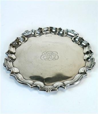 Lot 117-A silver salver