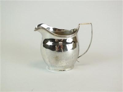 Lot 122-A George III silver cream jug