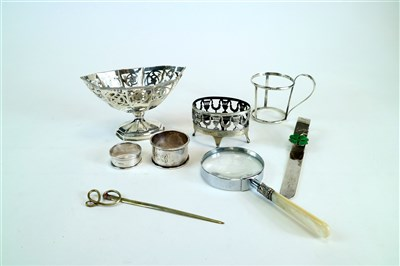 Lot 132-A collection of silver