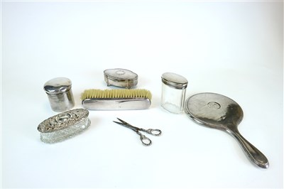 Lot 134-A collection of silver dressing table wares