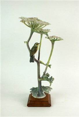 Lot 69 - A Royal Worcester model of a Chiff Chaff on Hogweed