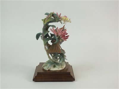 Lot 71 - A Royal Worcester model of a Nightingale and Honeysuckle
