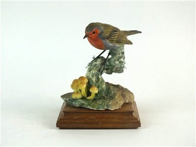 Lot 77-A Royal Worcester model of a Robin