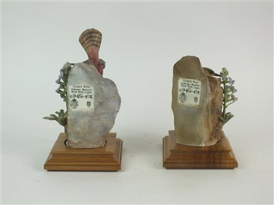 Lot 78 - A pair of Royal Worcester models of Canyon Wrens