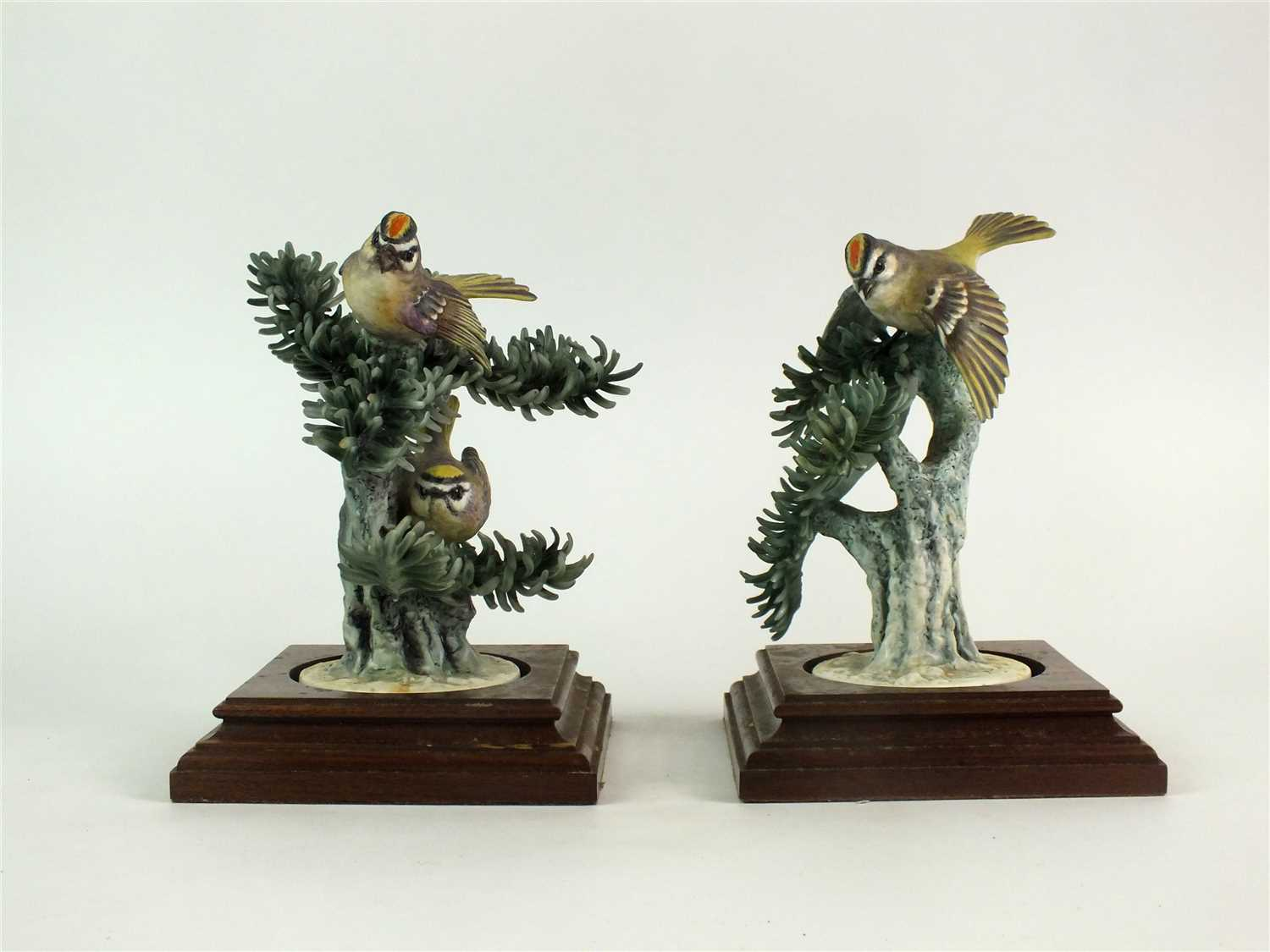 Lot 79-A pair of Royal Worcester models of Kinglets