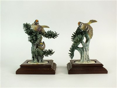 Lot 79 - A pair of Royal Worcester models of Kinglets