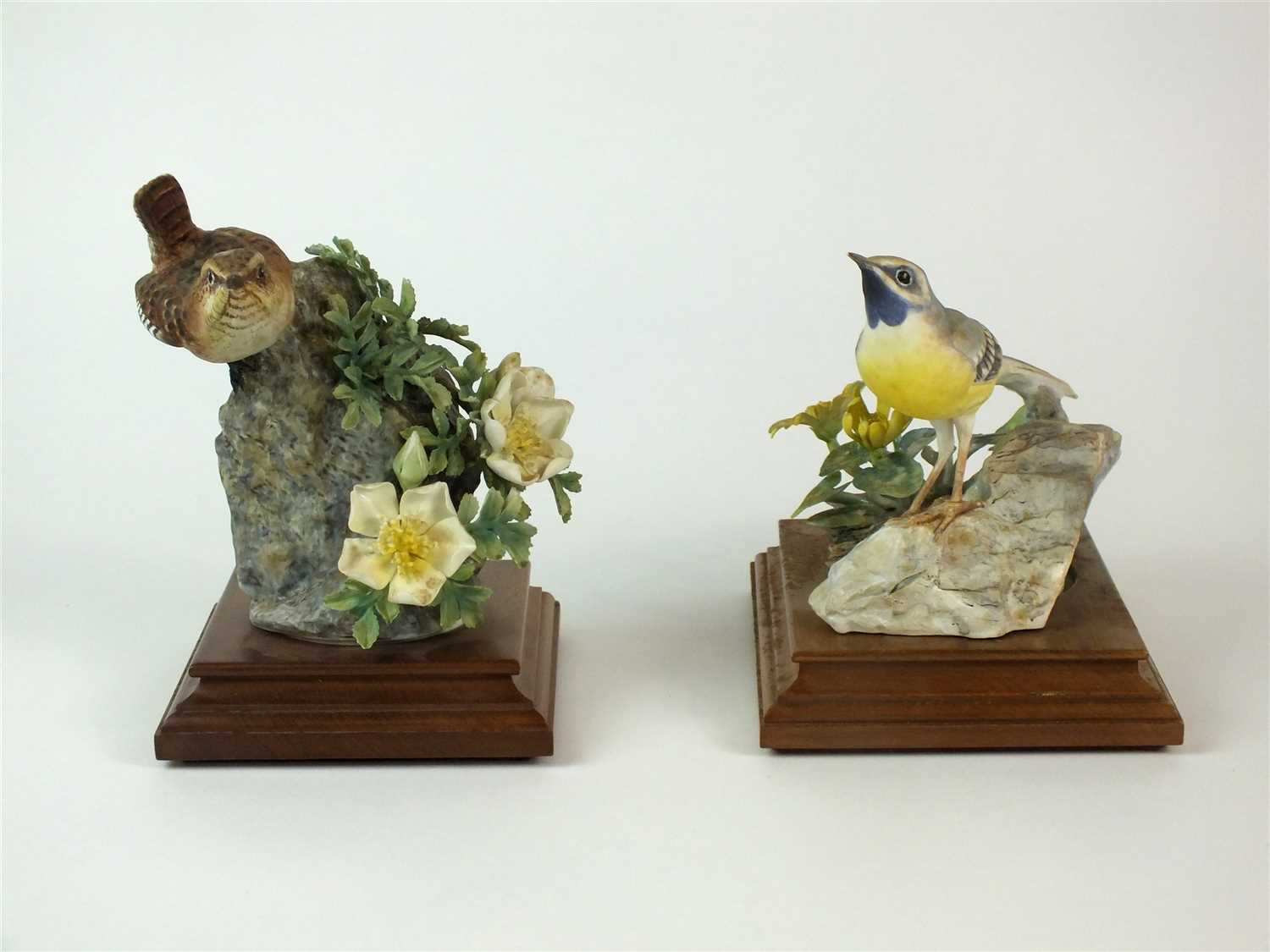 Lot 81 - Royal Worcester models of a Grey Wagtail and a Wren