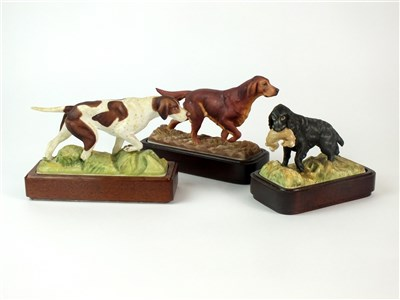 Lot 82 - Three Royal Worcester models of Sporting Dogs