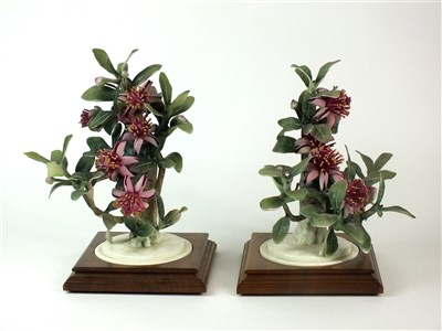 Lot 83 - A pair of Royal Worcester models of Mexican Feijoa and Ladybirds