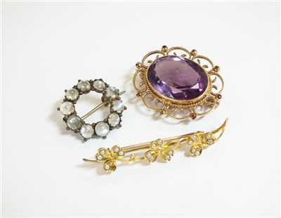 Lot 48-A collection of three brooches