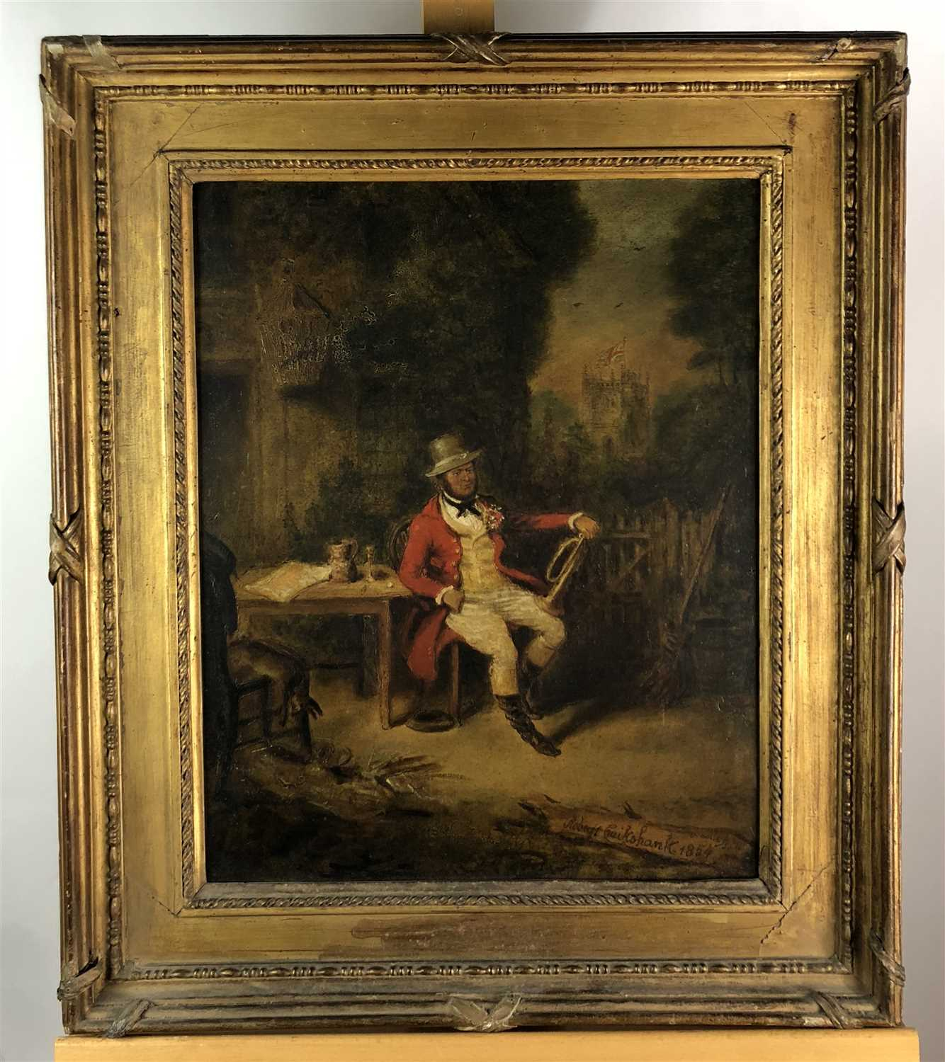Lot 73-Robert Cruikshank painting