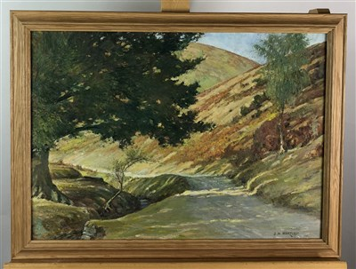 Lot 60-J H Hartley, watercolour and oil