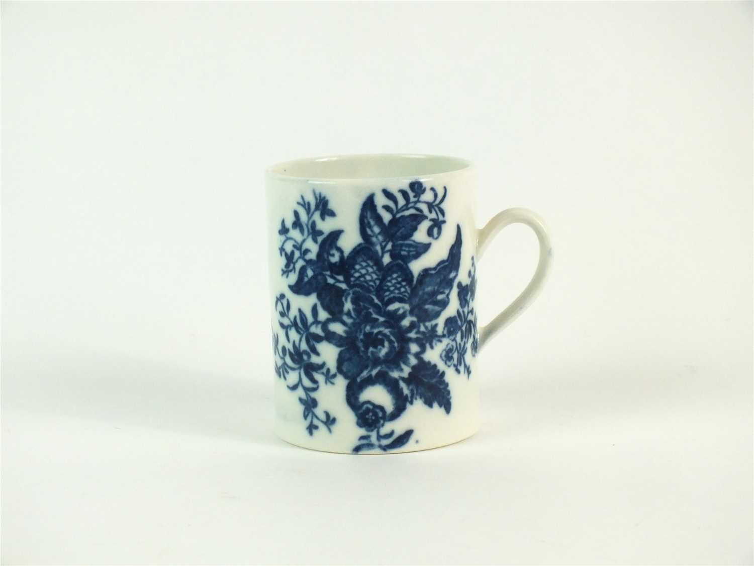 Lot 54-A Caughley mug in the Pine Cone pattern