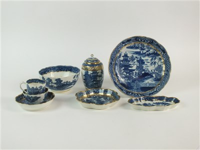 Lot 53-Eight pieces of Caughley porcelain