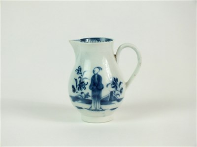 Lot 1-A Caughley Waiting Chinaman sparrowbeak jug