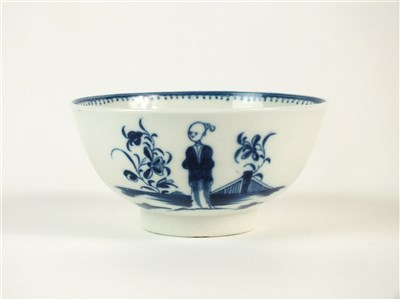 Lot 3-A Caughley 'Waiting Chinaman' bowl