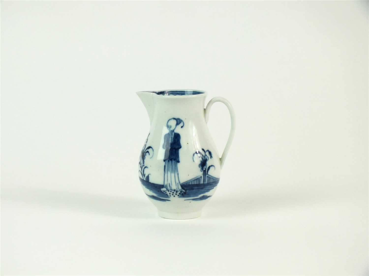 Lot 4-A Caughley 'Waiting Chinaman' sparrowbeak jug